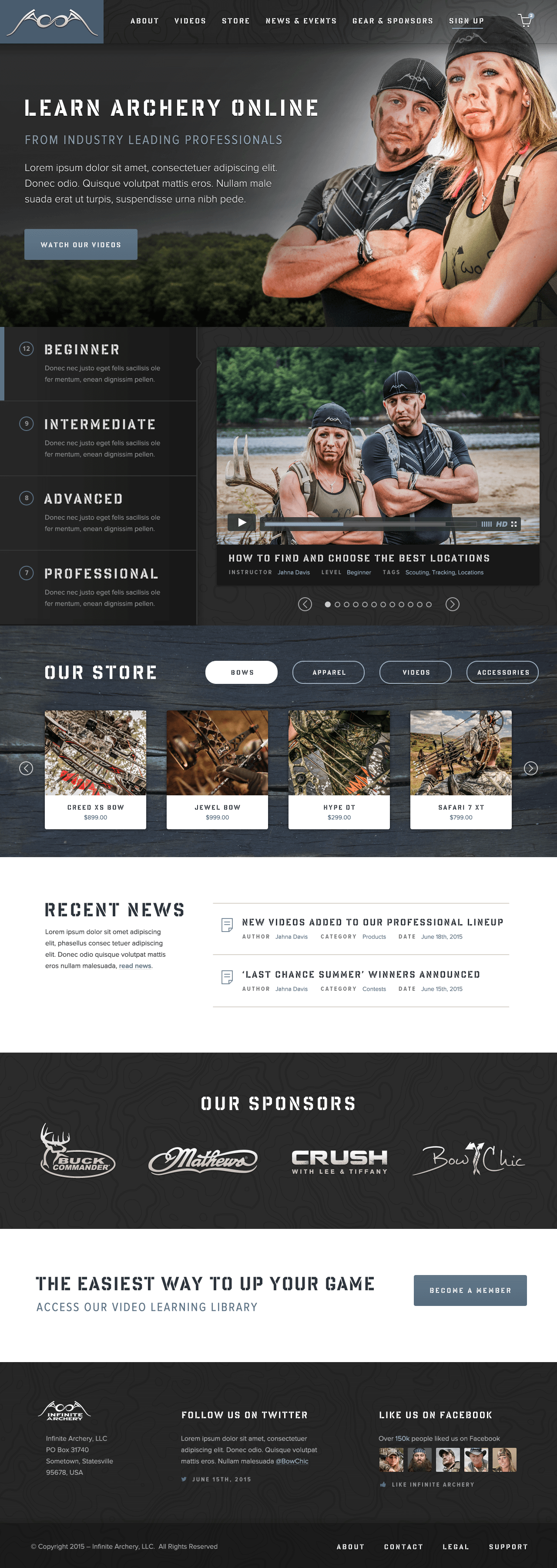 Infinite Archery — Homepage (Alternative)