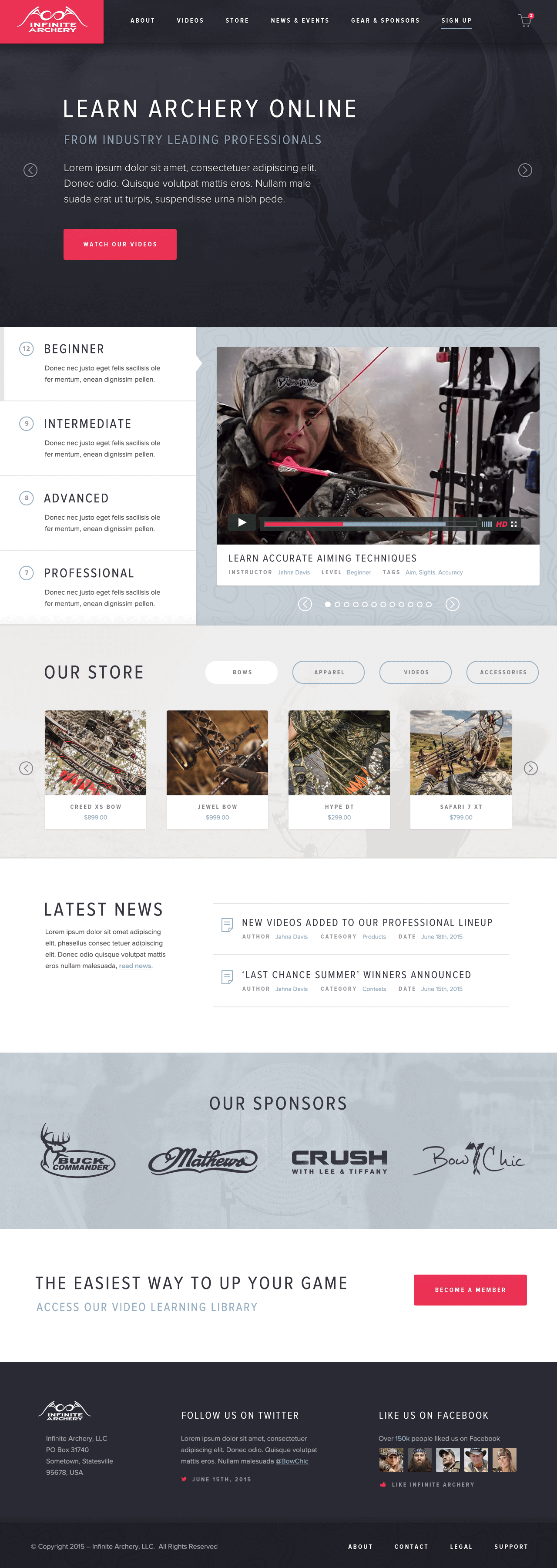 Infinite Archery — Homepage