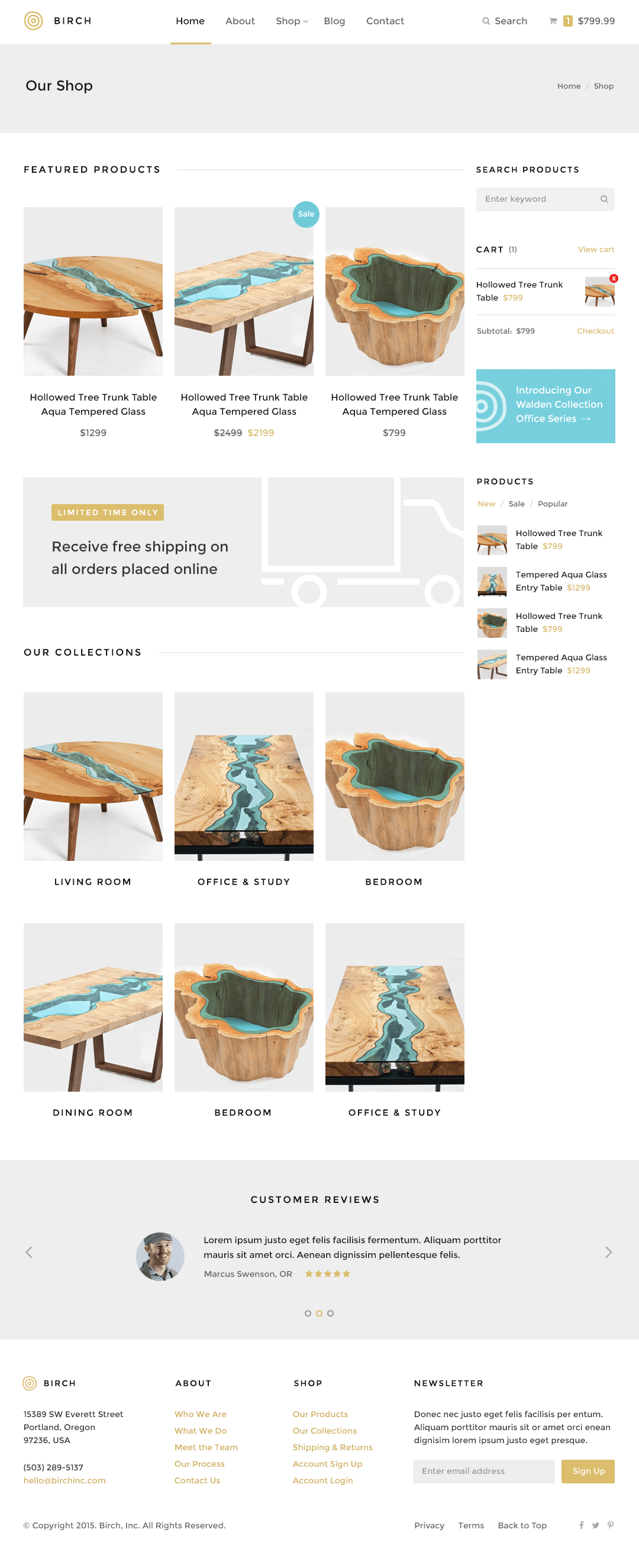 Birch WordPress Theme — Shop