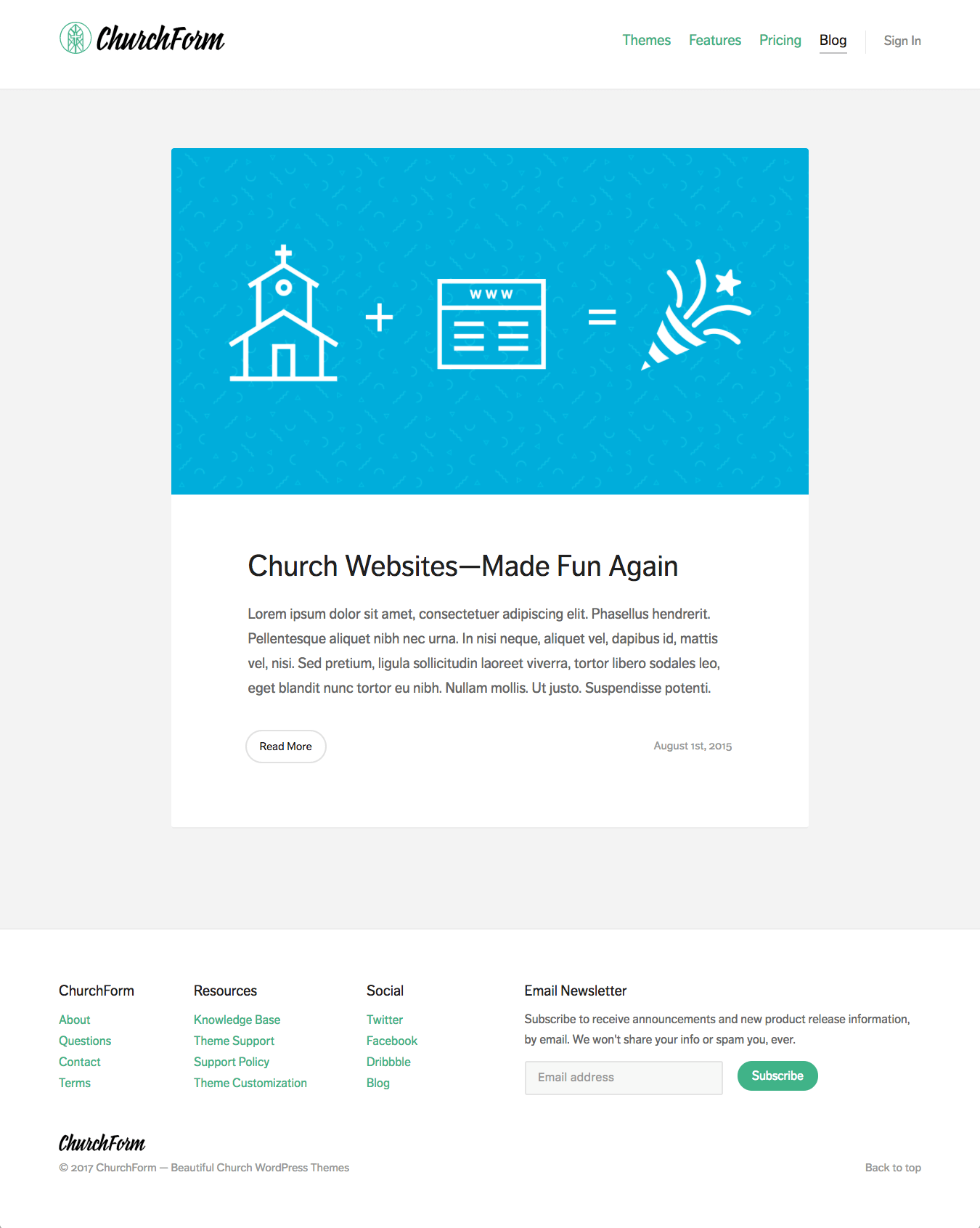 ChurchForm — Blog