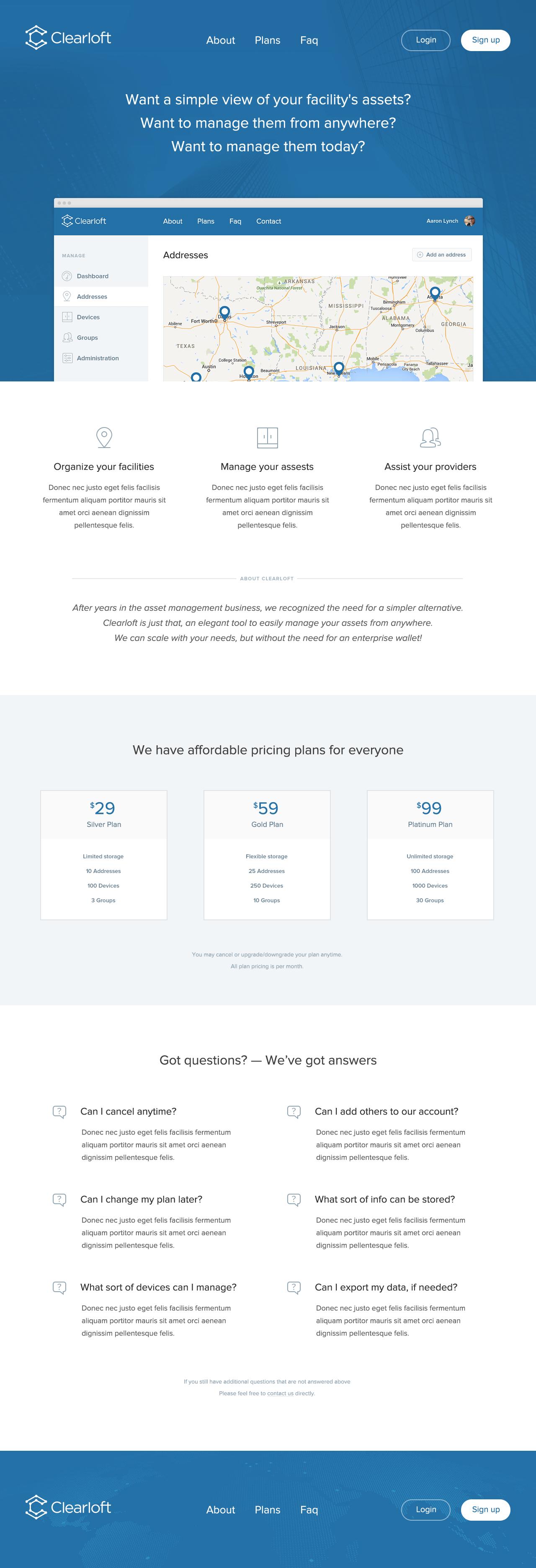 Clearloft Homepage